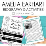 Amelia Earhart Biography and  Reading Response Activities
