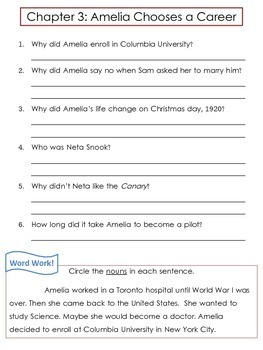 """Amelia Earhart Biography by Jerome """"Who Was..."""" Comprehension Worksheets"""