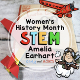 Amelia Earhart Build an Airplane Women's History Month READ ALOUD STEM™ Activity