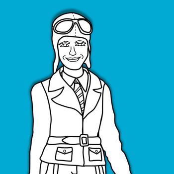 Amelia Earhart Clipart and Paper Dolls