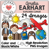 Amelia Earhart Clipart by Clipart That Cares