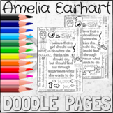 Amelia Earhart Coloring DOODLE NOTES!