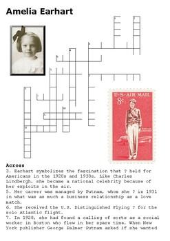 Amelia Earhart Crossword
