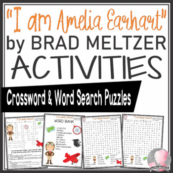 Amelia Earhart Crossword and Word Search Find Activities Brad Meltzer Book