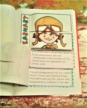 Amelia Earhart Foldable Activity-Women Firsts