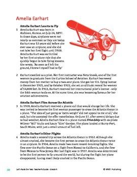 Amelia Earhart - Informational Text Test Prep