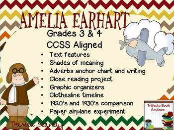 Amelia Earhart ~ Integrated Literacy Unit ~ Grades 3 & 4
