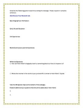 Helen Keller Internet Research Guide