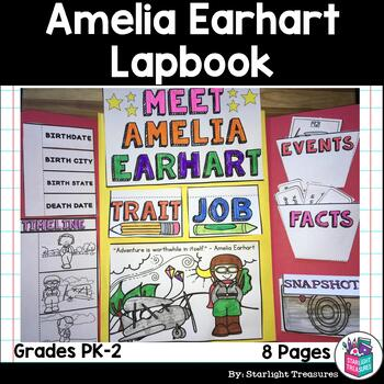 Amelia Earhart Lapbook for Early Learners - Women's History Month