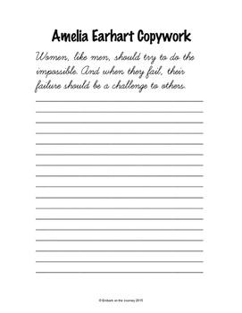 Amelia Earhart Activity Pack