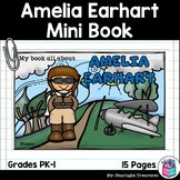 Amelia Earhart Mini Book for Early Readers: Women's History Month