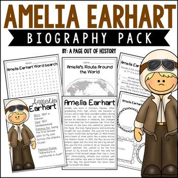 Amelia Earhart Biography Pack (Women's History)