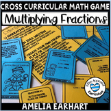 Amelia Earhart 5th Grade Multiply Fractions Worksheets Math