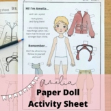Amelia Earhart Paper Doll,  Women's History Month