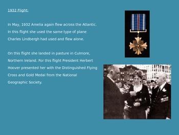 Amelia Earhart - Power Point - Life Story