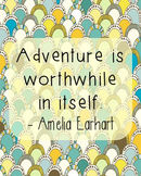 Amelia Earhart Inspirational Quote Poster