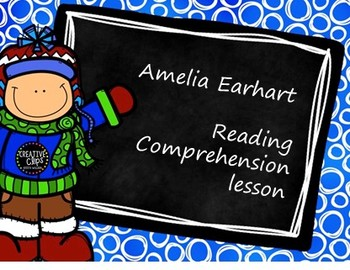 Amelia Earhart Reading Comprehension activity