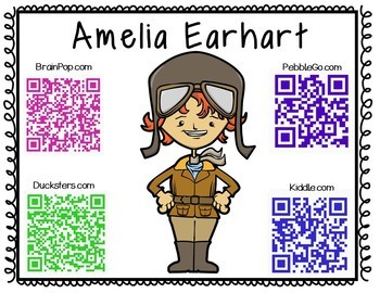 Amelia Earhart-Historical Figure Research Booklet