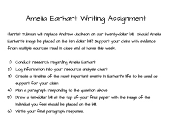 Amelia Earhart Research and Writing Lesson