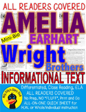 Wright Brothers Amelia Earhart Kitty Hawk Close Reading 5 Level Comp. Passages