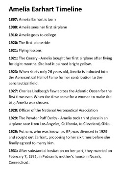 Amelia Earhart Quotes | Amelia Earhart Timeline And Quotes Activity By Steven S Social Studies
