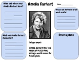 Amelia Earhart - Research Activity (Women's History Month)