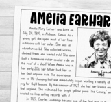 Amelia Earhart biography mini