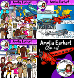 Amelia Earhart clip art- Big set of 54 items!