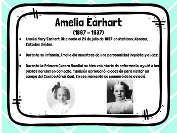 Amelia Earhart - Spanish/español
