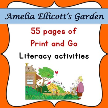 Amelia Ellicott's Garden Book Companion- Print & Go Literacy Activities