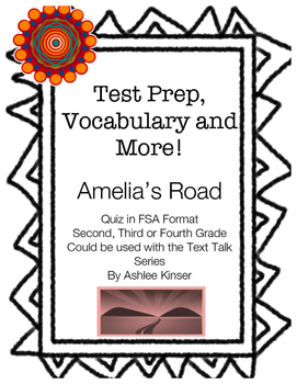 Amelia's Road - Vocabulary, Comprehension, Test Prep - 2nd, 3rd, 4th