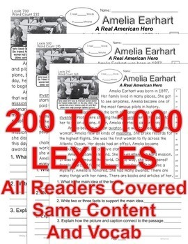 Susan B Anthony Amelia Earhart Helen Keller & More Close Read 5 levels Info Text