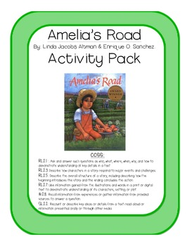 Amelia's Road Activity Pack By Linda Jacobs Altman & Enrique O. Sanchez.