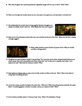 Amelie Film (2001) Study Guide Movie Packet