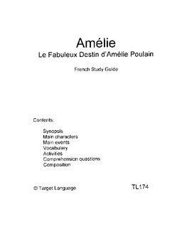 Amelie-French Study Guide