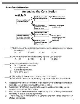Amending the Constituion