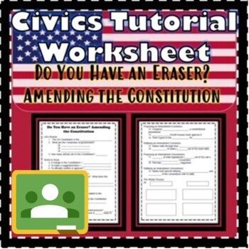 Amending the Constitution- Do You Have an Eraser? Floridastudents.org SS.7.C.3.5