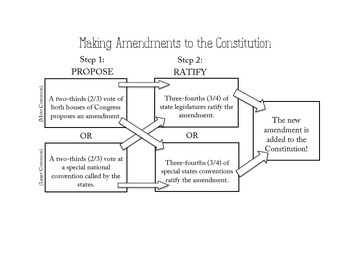 Amending the Constitution Flow Chart by The Wright Ladies | TpT