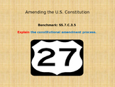 Establishing the US Government - Amending the Constitution - Lesson Plan as a PP