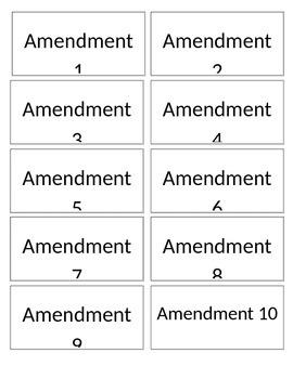 Amendment Match Activity
