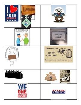 Amendment Matching Cards
