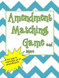 Amendment Memory Game and More