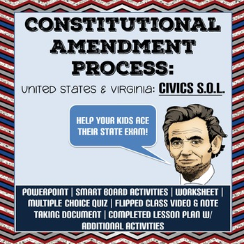 Amendment Process: U.S. & Virginia Constitutions - Civics ...