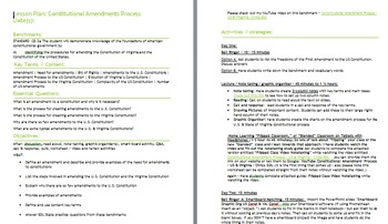 Amendment Process: U.S. & Virginia Constitutions - Civics S.O.L.