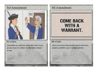 Amendment Review Cards