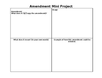 Amendments (4 day lesson)