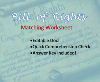 Luscious image throughout bill of rights quiz printable