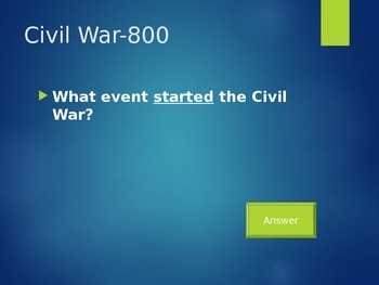 Amendments, Civil War, Reconstruction Jeopardy!