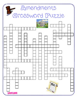 Amendments Crossword Puzzle By LaRocks Lessons