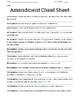 Amendments Matching Quiz, Study Guide, and Notes
